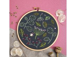 black seedhead spray embroidery kit 1