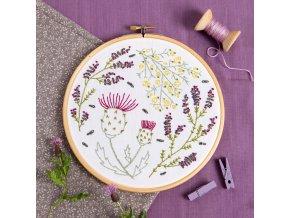 highland heathers embroidery kit 1