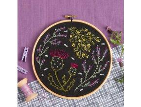 black highland heathers embroidery kit 1