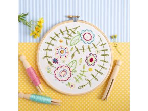 spring posy embroidery kit 1