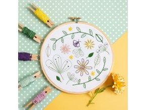wildflower meadow embroidery kit 1