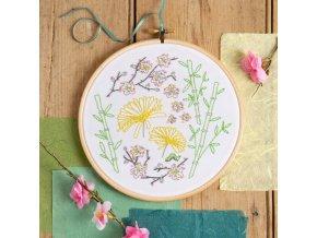 japanese garden embroidery kit 1