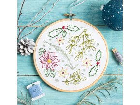 winter walk embroidery kit 1