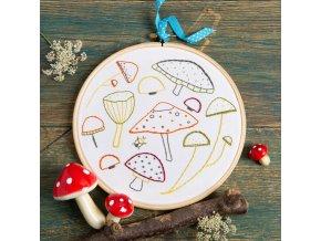 marvellous mushrooms embroidery kit 1