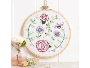 rose garden embroidery kit 1