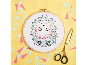 hedgehog embroidery kit 1