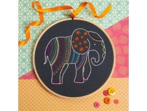 black elephant embroidery kit 1