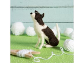 border collie needle felting kit 1