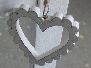 Srdce závěsné dřevěné