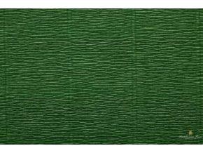 Krepový papír listově zelený 591