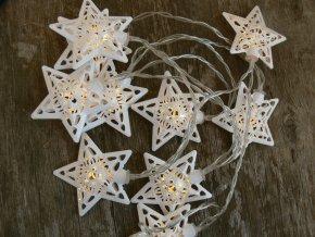 Dekorační osvětlení girlanda plechové hvězdy