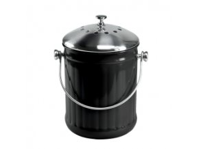 Plechová nádoba na bio odpad z kuchyně černá
