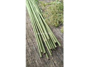 Vázací drát s papírem zelený 10 ks