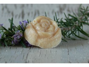 Vonný vosk ve tvaru růže - 4 ks v krabičce - whisky karamel