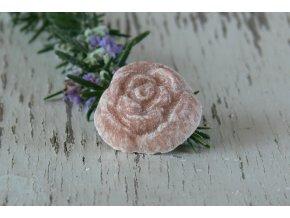 Vonný vosk ve tvaru růže - 4 ks v krabičce - marzipán