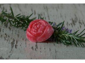 Vonný vosk ve tvaru růže -4ks v balení - vůně třešeň