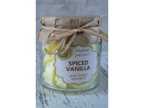 Vanilka - vonné vosky ve skleněné dóze 18 ks