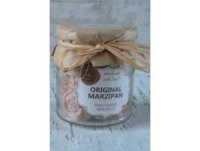 Marcipán - vonné vosky ve skleněné dóze - 18 kusů