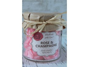 Růže a šampaňské - vonné vosky v dárkovém balení 18 kusů