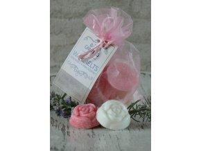 Mix vonných vosků v látkovém sáčku jasmín a růže 12 kusů
