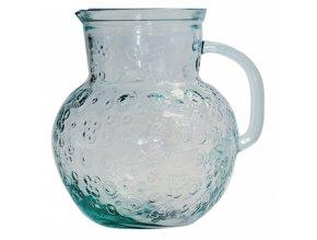 Džbán z recyklovaného skla 2,3 l vzor květiny