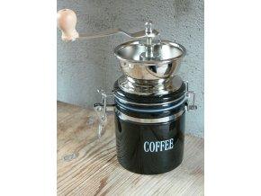 Univerzální ruční mlýnek na kávu, ořechy, koření nerez
