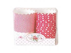 Papírové košíčky na muffiny Abelone white 20 kusů