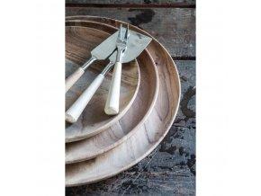 Dřevěný talíř z akáciového dřeva