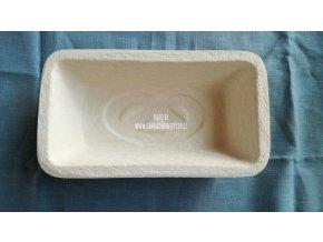 Ošatka na chleba z celulózy, hranatá, vzor preclík, 750 g