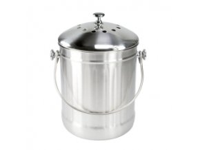 Nádoba na kuchyňský bioodpad stříbrná