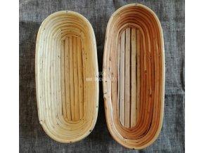 Oválná ošatka na kynutí baget 45 cm