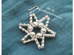 Perličková ozdoba - hvězdička mini