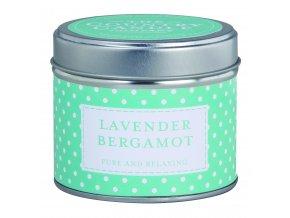 Polka Dot Tin Lavender Bergamot