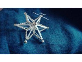Perličková ozdoba - hvězda 3D