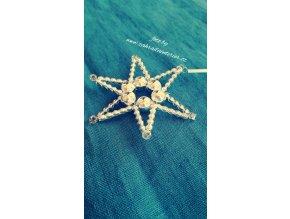 Perličková ozdoba - hvězda