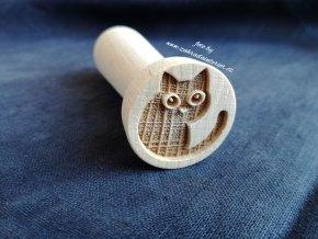Dřevěné razítko kočka