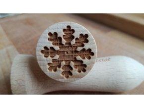 Dřevěné razítko sněhová vločka II