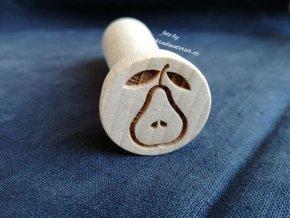 Dřevěné razítko hruška
