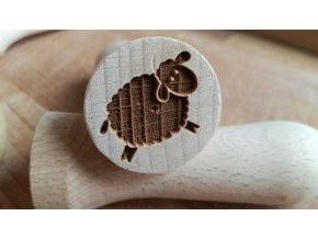 Dřevěné razítko ovečka