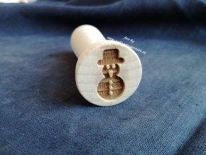 Dřevěné razítko sněhulák