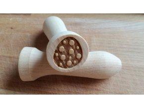 Dřevěné razítko vajíčko puntík