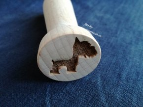 Dřevěné razítko foxteriér