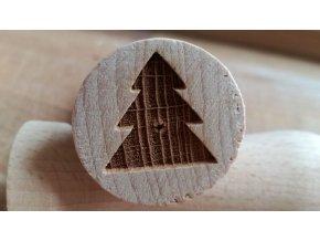 Dřevěné razítko stromek