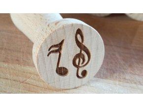 Dřevěné razítko noty