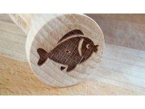 Dřevěné razítko ryba