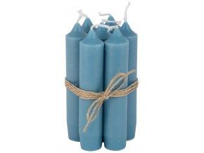 Svíčka modrá - set 6 kusů