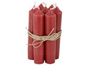 Svíčka červená - set 6 kusů
