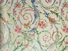 Dekorační papír květinové spirály