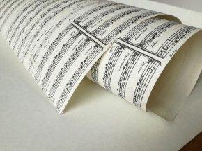 Dekorační papír noty