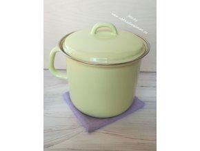 Kastrůlek zelený s pokličkou 2 litry